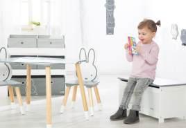 Roba 'Miffy' Spielzeugtruhe weiß/grau