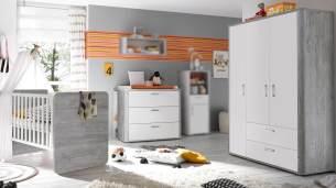 Mäusbacher 'FRIEDA' 3-tlg. Babyzimmer-Set grey/weiß