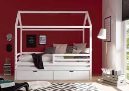 Bega 'Karlson' Hausbett 90x200 cm, weiß, mit 2 Bettkästen