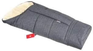 BABYLUX Winterfußsack 110cm Grau, mit Lammwolle, universell einsetzbar
