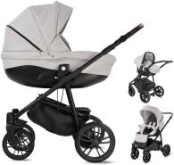 Minigo Flow | 3 in 1 Kombi Kinderwagen | Gelreifen | Farbe: Light Grey
