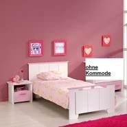 PARISOT 'Biotiful' Kinderbett inkl Nako Weiß / Rosa