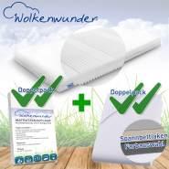 Wolkenwunder 'Multi' Matratze, mittlere Härte, 100x200 cm, inkl. 2 Hygieneauflagen & 2 Spannbettlaken, weiß
