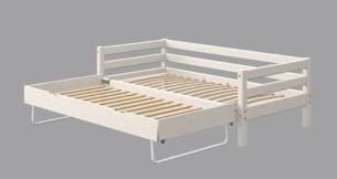 Flexa Classic Bett 90-10171 90-10172 mit Ausziehbett 90 x 190 cm   Weiß lasiert
