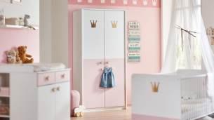Wimex 'CINDY 2' Kleiderschrank weiß rosé