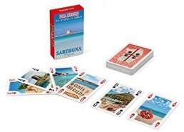 Dal Negro 23548 - Mini Poker Souvenir Sardinien Spielkarten, Etui Rot