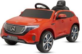 Kinder Elektro Auto Mercedes Benz EQC 400 2x 15W 6V 2. 4G RC Bluetooth Rot
