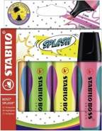 STABILO BOSS SPLASH 4er Etui