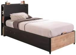 Cilek 'BLACK' Bett natur/schwarz mit Kopfteil 100 x 200 cm