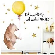 Little Deco Aufkleber Bär mit Luftballon 59 x 103 cm