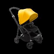 Bugaboo 'Bee 6' Kinderwagen Gestell Schwarz / Bezug Schwarz / Verdeck Gelb
