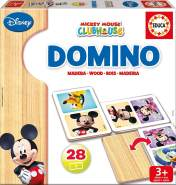 Carletto 9216037 - Educa, Disney, Mickey Mouse Clubhouse, Domino, Holz, 28-teilig