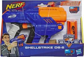 Hasbro - Nerf N-Strike Elite Shellstrike DS-6Hasbro - Nerf Gun, blau/orange