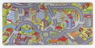 Hanse Home Spielteppich Kinderteppich Smartcity grau 200x300 cm
