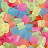Bügelperlen, Größe 5x5 mm, Lochgröße 2,5 mm, Neonfarben, Medium, 30000sort.