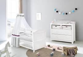 Pinolino 'Nina' 2-tlg. Babyzimmer-Set weiß, breit