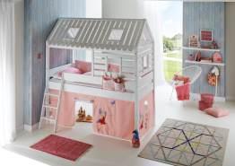 Relita 'Tom´s Hütte' Hausbett und Bett Kim weiß lackiert / Princess