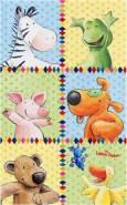 Böing Carpet 'Die Lieben Sieben - Quadrat' Kinderteppich gelb, 140x200 cm