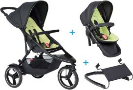phil&teds dash Kinderwagen - 3 für 1 Vorteilspaket apple