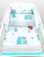 Babylux 'Hippo Türkis' Kinderbettwäsche 40x60/100x135 cm