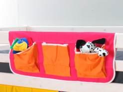 Betttasche für Hochbett Pink