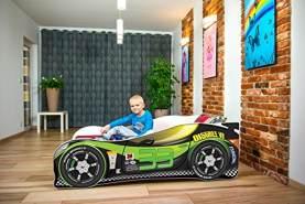 Nobiko Autobett 160 x 80 cm inkl. Matratze, grün
