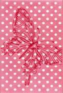 Sun 4182 Pink Butterfly 100x160 cm