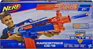 Hasbro - Nerf N-Strike Elite Rapidstrike CS-18 Nerf Gun, blau/orange