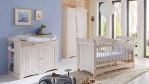 Steens 'LOTTA' 3-tlg. Babyzimmer-Set weiß/white wash