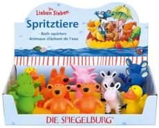 Die Spiegelburg 20940 Spritztiere Die Lieben Sieben, 7-fach sortiert, ab 2 Jahre, 1 Stück, zufällige Auswahl, keine Vorauswahl möglich