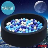 Bio Premium Bällebad WELTALL in dunkelblau mit 300 Bällen aus Zuckerrohr