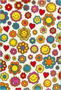 Move 4484 Multi Flowers 80 x 150 cm
