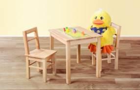 Kindersitzgruppe 3-tlg. aus Kernbuche Massivholz, natur