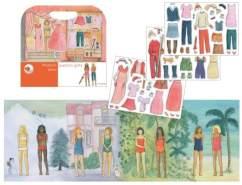 Magnetspiel Fashion Girls, mit vielen abnehmbaren Magneten- Reisespiel