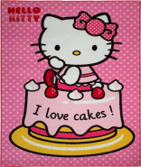 Hello Kitty Kinderteppich rosa 95x133 cm
