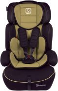 BabyGo 'Freemove' Autokindersitz in Beige, 9 bis 36 kg (Gruppe 1/2/3), umbaubar zur Sitzerhöhung