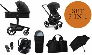 Joolz 'Day+' Kombikinderwangen 4plusin1 2020 in Brilliant Black, inkl. Cybex Babyschale in Soho Grey