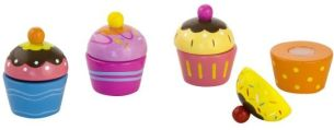 Besttoy - Cupcakes - aus Holz - 4 Stück
