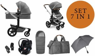 Joolz 'Day+' Kombikinderwangen 4plusin1 2020 in Radiant Grey, inkl. Cybex Babyschale in Soho Grey