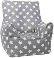 Knorrtoys 'Grey White Stars' Kindersitzsack (Grau-Weiß)