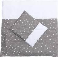 Fillikid 'Sterne' Bettwäsche 80 x 80 cm grau