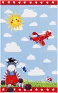 Kinderteppich 'Baby Glück' rot, 140x200 cm