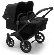 Bugaboo 'Donkey3 Twin' Zwillingswagen 3 in 1 Black, inkl. Babyschale Deep Black