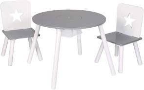 Woltu Kindersitzgruppe Tisch-Set mit Stauraum aus Kiefernholz