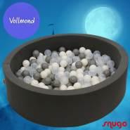 Bio Premium Bällebad VOLLMOND in dunkelgrau mit 300 Bällen aus Zuckerrohr