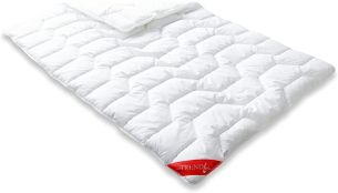 Badenia Bettcomfort Steppbett Trendline Basic kochfest Duo Winterdecke, 135 x 200 cm weiß