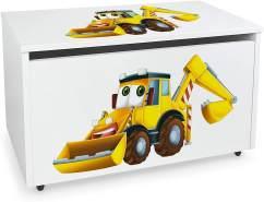Leomark Spielzeugtruhe auf Rädern, Herr Bagger
