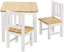 Bomi 'Amy' 3-tlg. Kindersitzgruppe natur/weiß