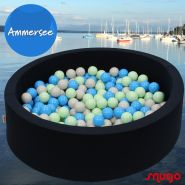 Bio Premium Bällebad AMMERSEE in dunkelblau mit 300 Bällen aus Zuckerrohr
