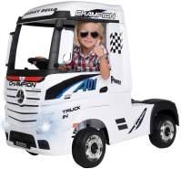Kinder Elektroauto Mercedes Benz Actros LKW Truck Kinderfahrzeug Kinderauto 180W (Weiß)